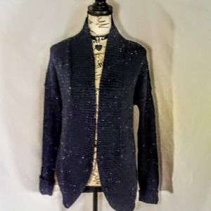 Nwot! Loft long black open cardigan size medium